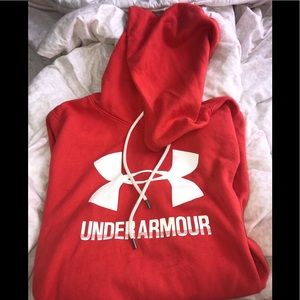 Red/Orange Under Armour Hoodie